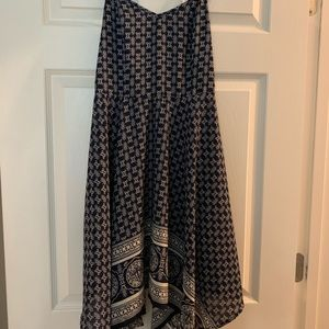 Navy blue tribal/aztec dress